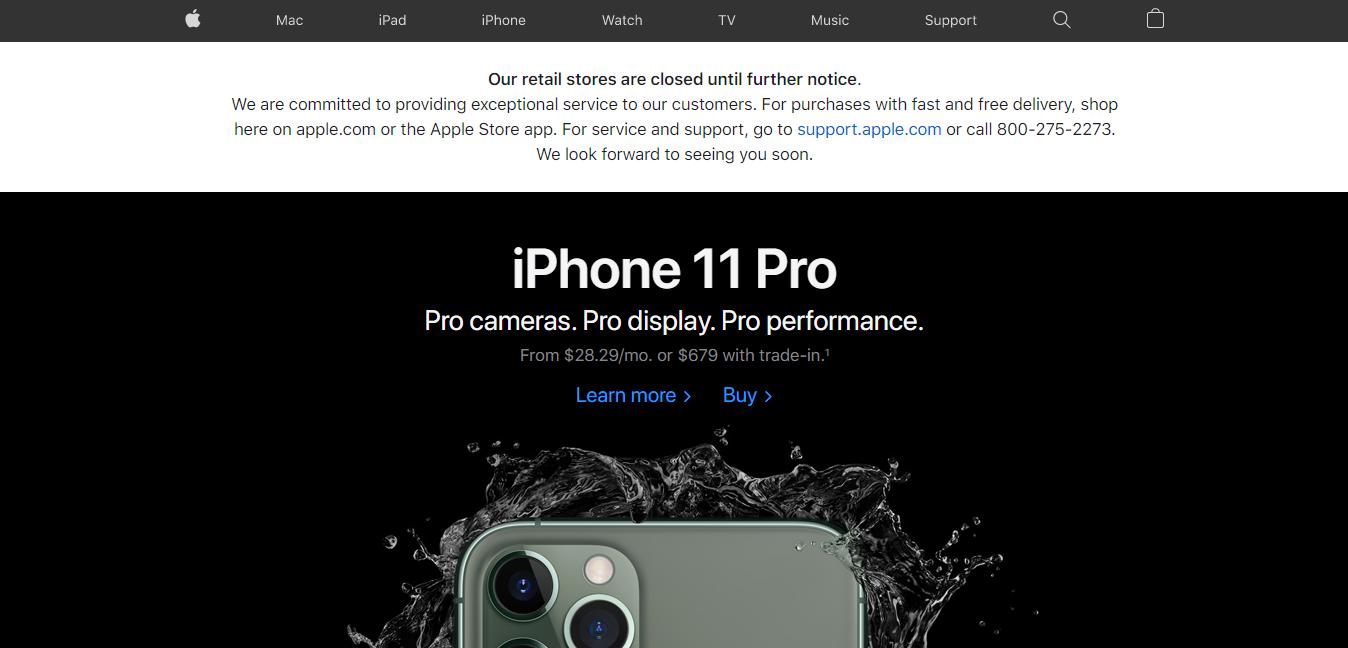 Apple thay đổi thông báo lệnh đóng cửa toàn bộ Apple Store vô thời hạn trên toàn cầu, ngoại trừ Trung Quốc