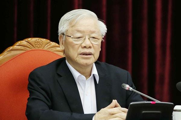"""Tổng bí thư, Chủ tịch nước Nguyễn Phú Trọng: Tiến tới làm tốt công tác nhân sự Đại hội 13, """"dưới có vững thì trên mới bền chắc được""""    G-Saram"""