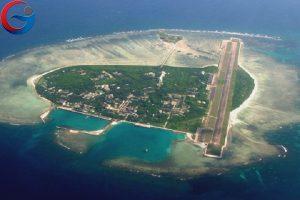 Đảo Phú Lâm ở quần đảo Hoàng Sa thuộc chủ quyền Việt Nam đang bị Trung Quốc chiếm giữ trái phép